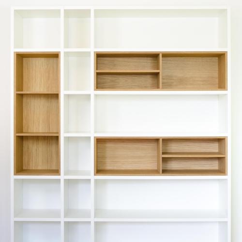 Bücherregal holz weiß