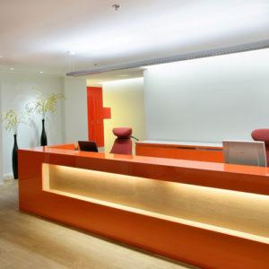Reception vom Schreiner Büromöbel nach maß